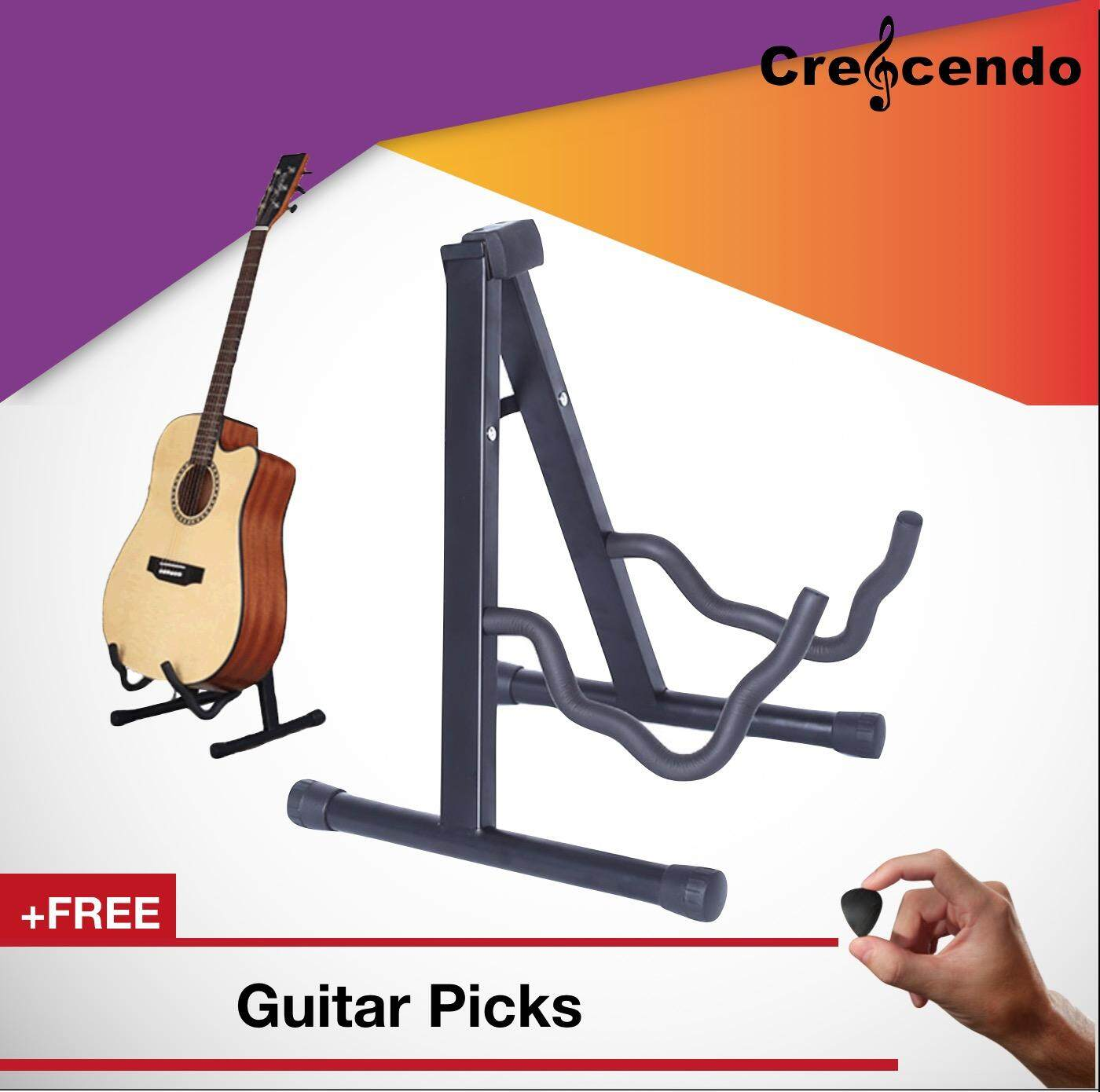 Guitar A Frame Foldable Guitar Stand For Acoustic, Electric , Bass Guitar And Ukulele By Crescendo.