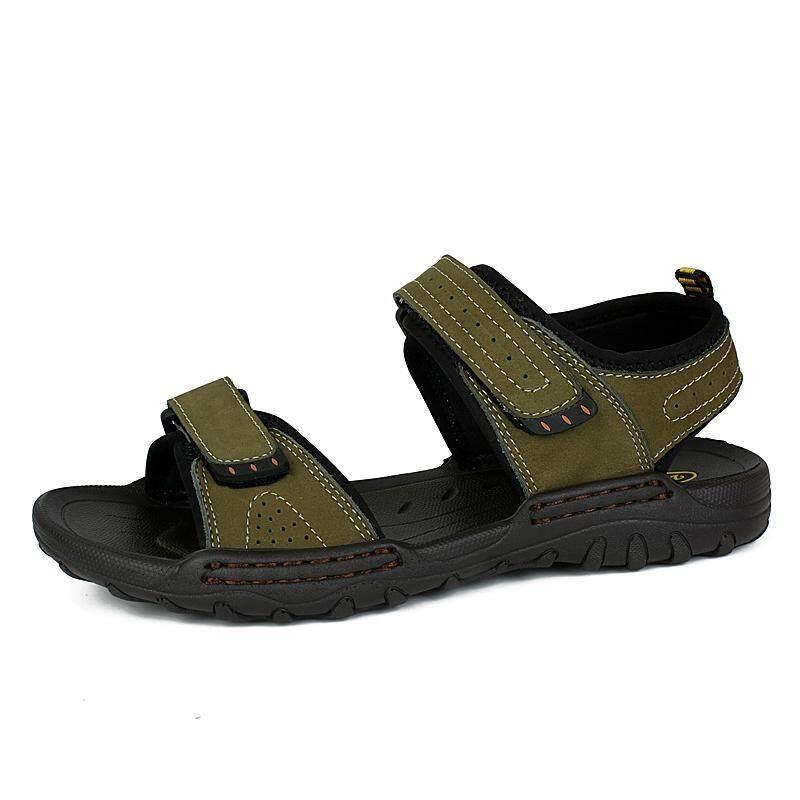 80241b106100 Leiape Summer Men Outdoor Hiking Sandals Leather Beach Flat Sport Sandals  Walking Sneaker Boating Water