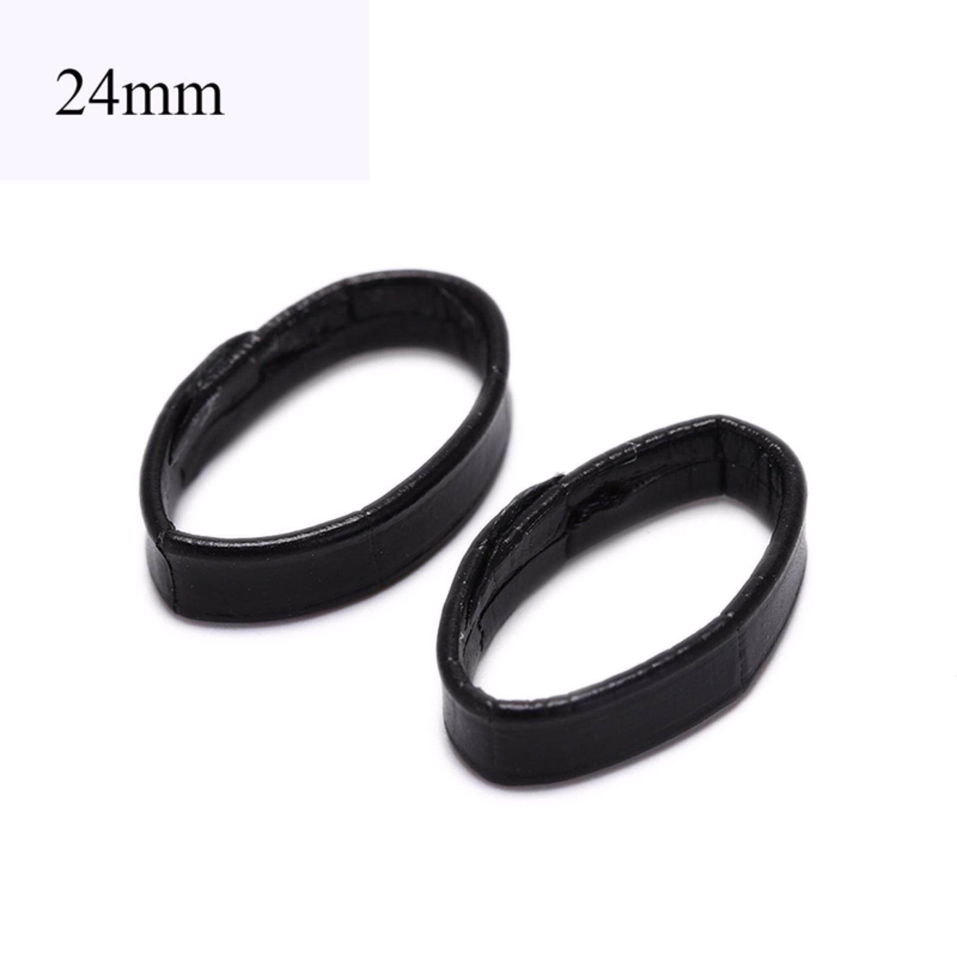 2pcs leather watch band loop strap holder locker keeper loops tool  24mm Malaysia