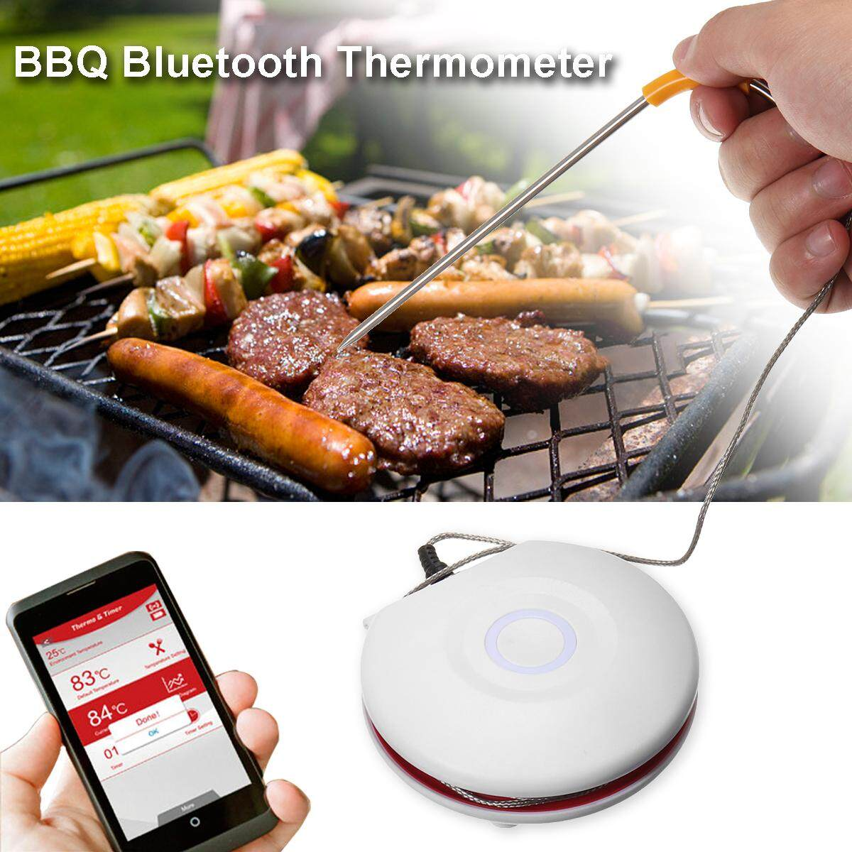 Digital Meat Thermometer Cooking Thermometer Supports bluetooth Wireless for BBQ