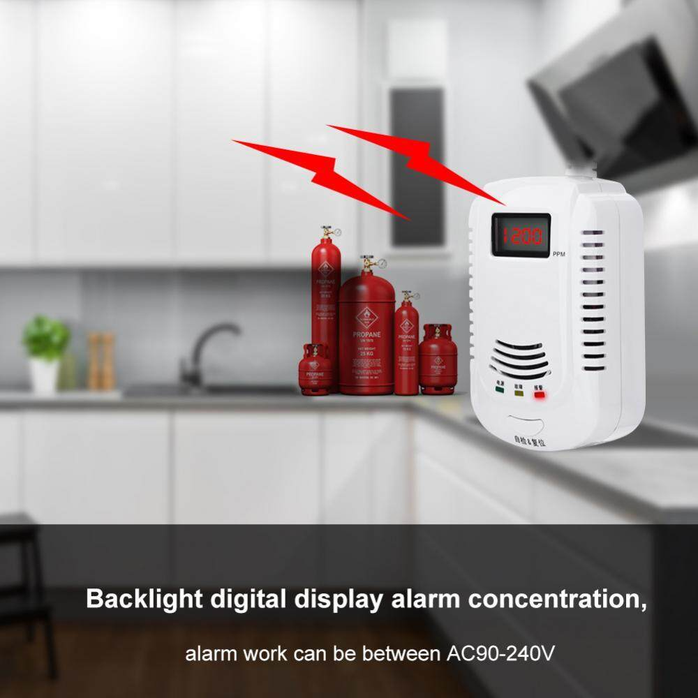 Combustible Gas Detector Live-Action Speech Display Alarm Combustible Gas Leakage Sensor US