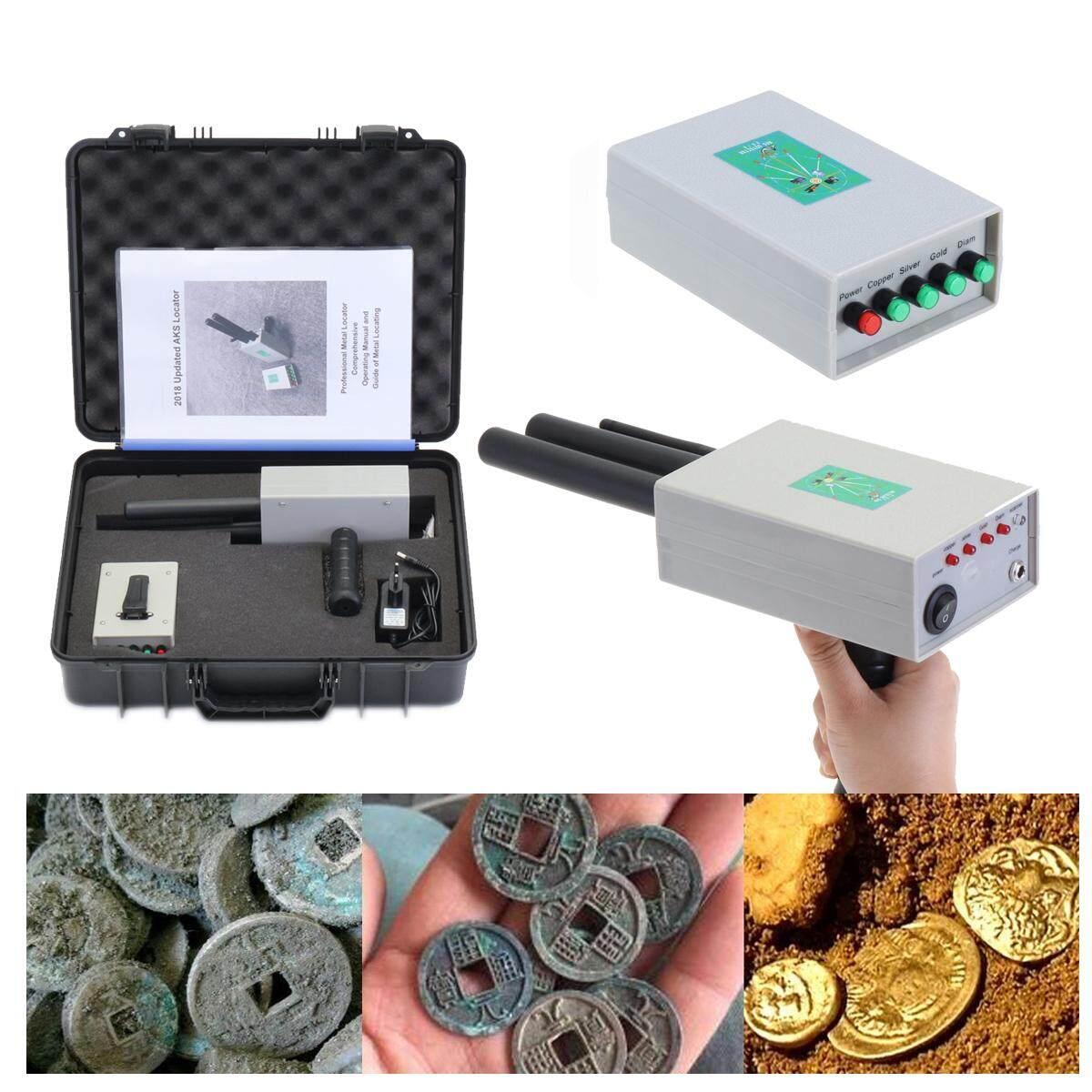 Aks Metal Detector Finder Gold Silver Copper Scanner Deep Underground Long Range --- Grey / Black By Threegold.