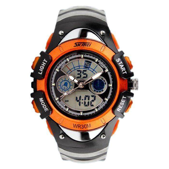 SKMEi Sport Watch Child Boy Brand Digital Analog Waterproof Watch Orange Malaysia
