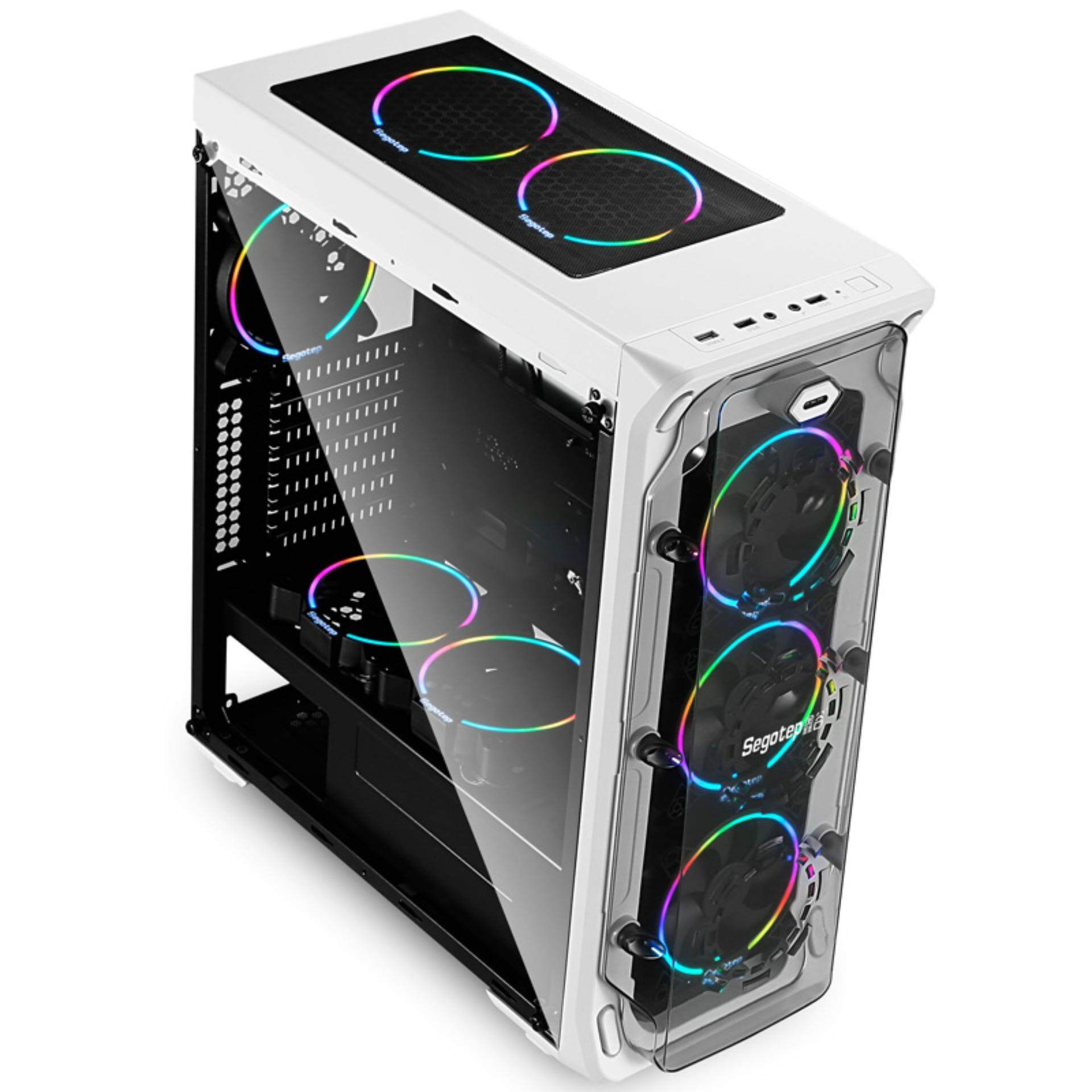 Segotep LUX II  RGB ATX Gaming Computer Case - WHITE Malaysia