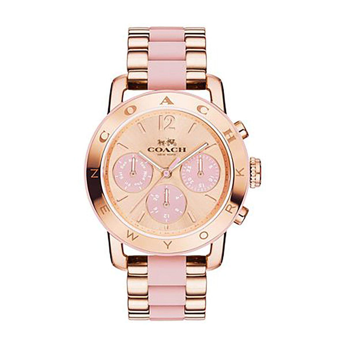 Coach Coach Legacy Multicolored Stainless-Steel Case Two-Tone-Stainless-Steel Bracelet Ladies 14502535 Malaysia