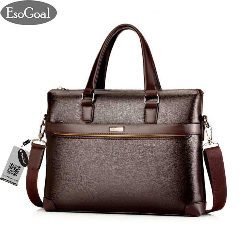 e2550a76 EsoGoal Men's Leather Briefcase Laptop Handbag Messenger Business Bags