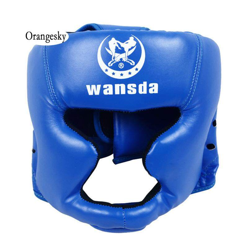 Orangesky Headgear Head Guard Training Kick Boxing Protector Sparring Gear Face Helmet By Orangesky.
