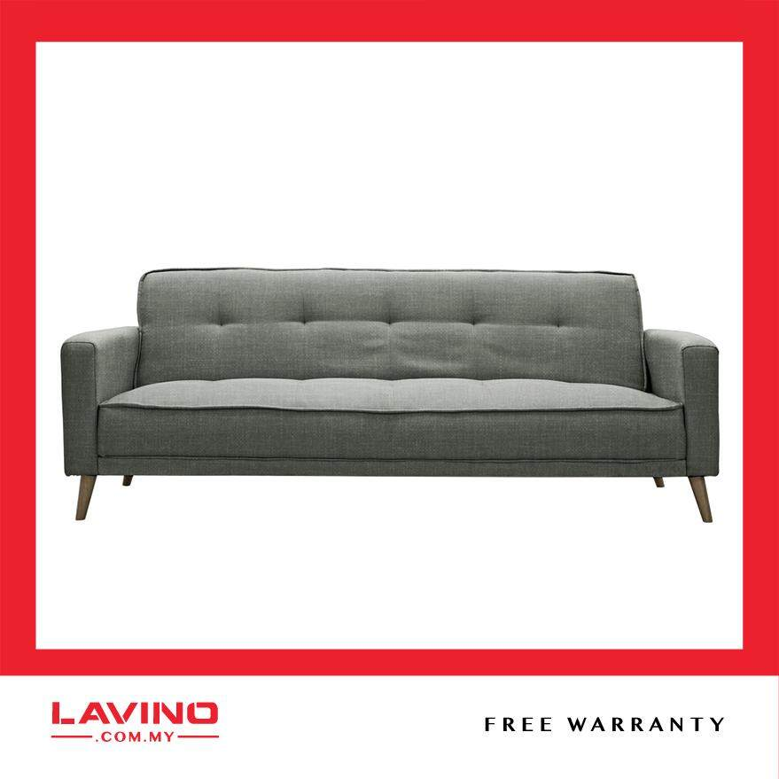 Lavino Perth Water Repellent Fabric 3 Seater Sofa Bed With Armrest