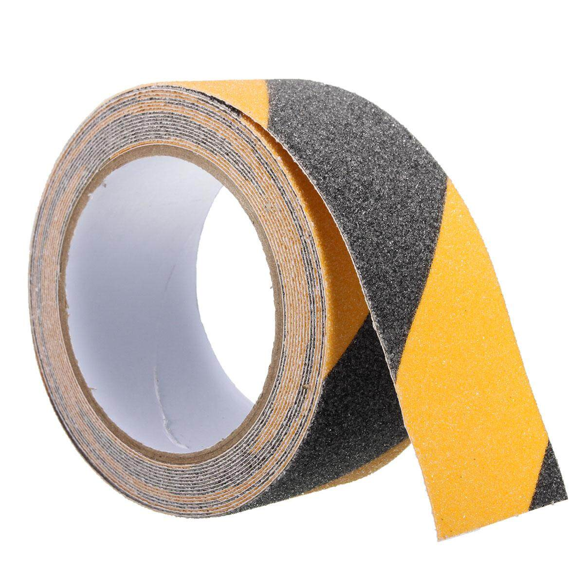 5cm x 5m Floor Safety Non Skid Tape Roll Anti Slip Adhesive Stickers High Grip Black and yellow