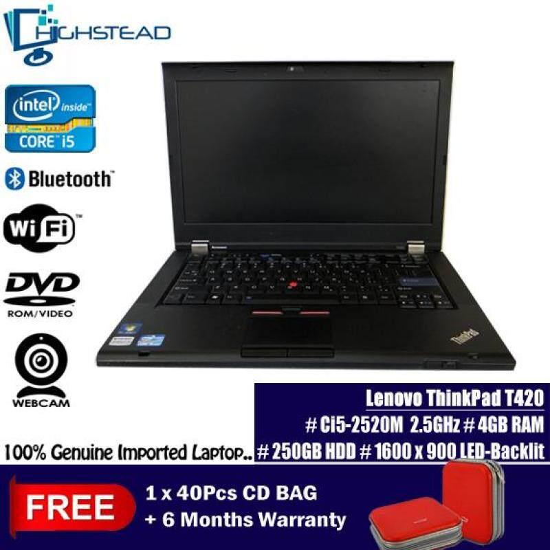 LENOVO T420 Ci5-2520M 2.50GHz 4GB 250GB 2nd GEN Notebook Refurbished Malaysia