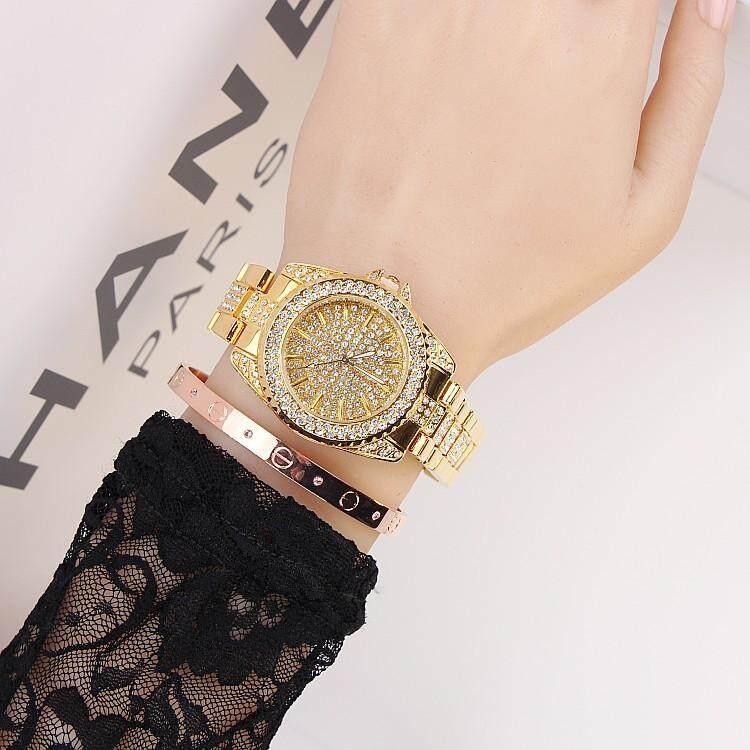 Swaymond Purple Watch Black Personality Fashion Rose Gold Trend Diamond Full Steel Band Women Watch Malaysia
