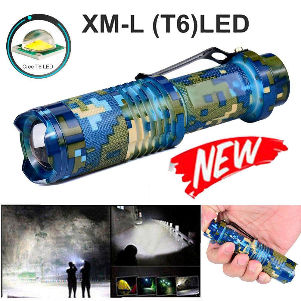 Zoomable T6 LED 5 Modes Flashlight Torch Zoom Lamp Outdoor Light