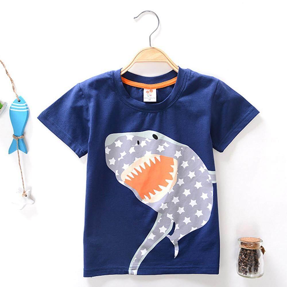 3c4742069b55 Lawsonshop Toddler Kids Baby Boys Girls Clothes Short Sleeve Cartoon Tops T- Shirt Blous Free