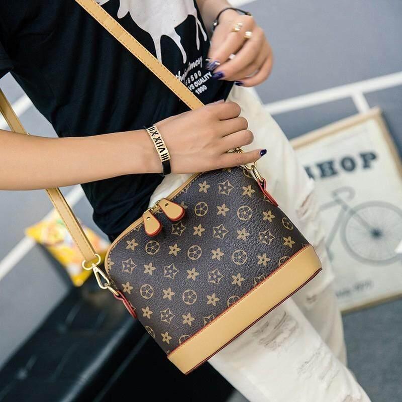 Al Sahhia Ready Stock Premium Shell Star Brown Fashion Bags Sling Bag Tote  Beg Tangan 9d6555d07091f