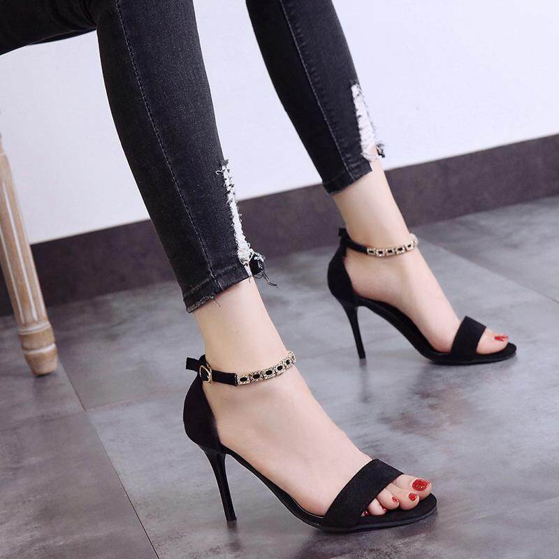 Open Toe Womens Heel Sandals Summer Spring Fashion Straps Sandals Women  Pumps High Heels Shoes Female 8e0201144189
