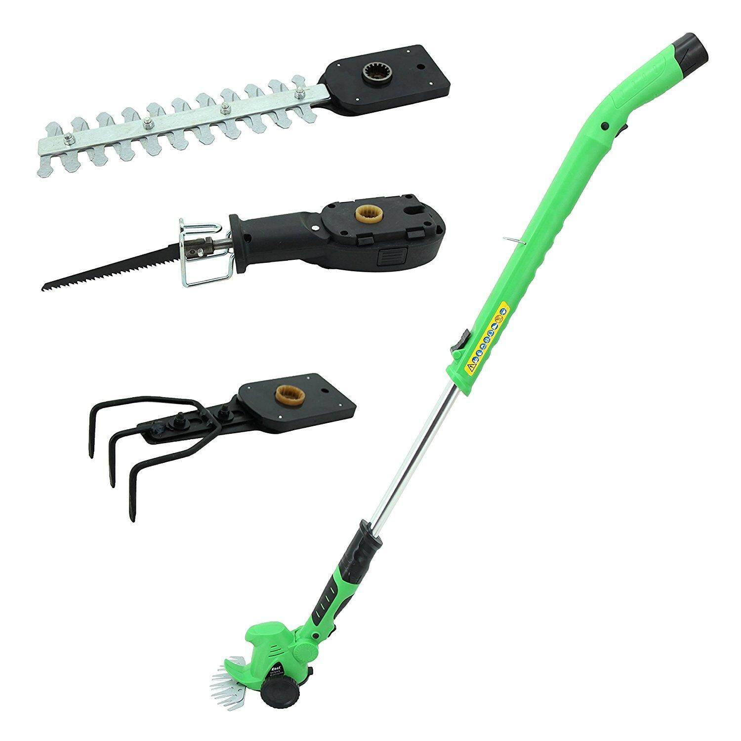 10.8V 4 in 1 Electric Cordless Compact Grass Hedge Edge Trimmer Saw With Handle And Wheel EU PLUG