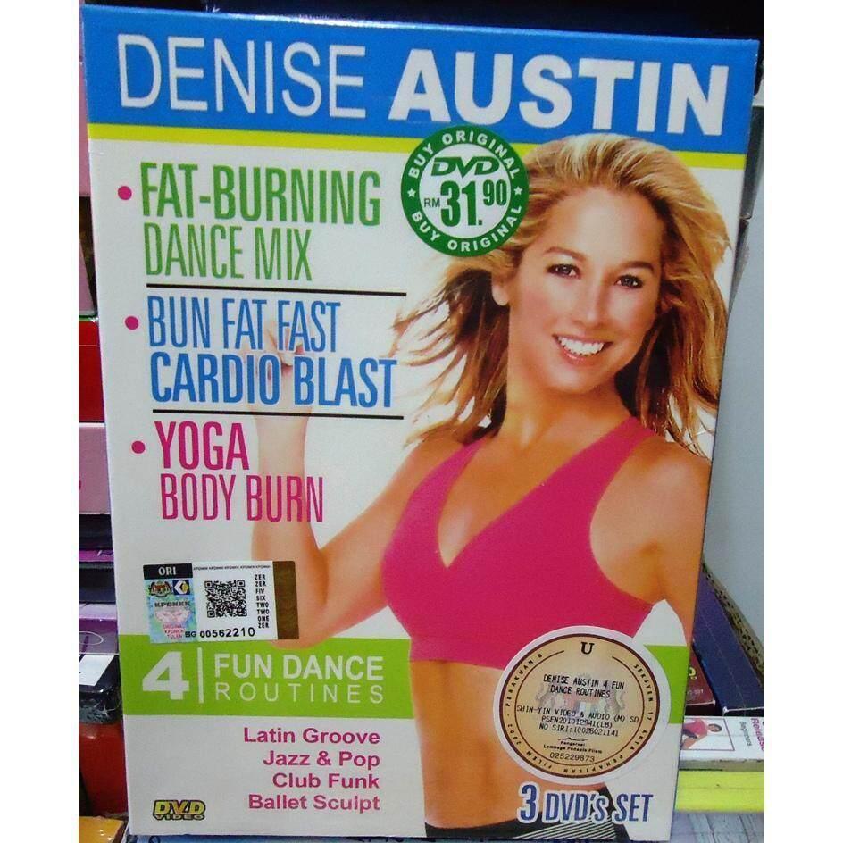 Fat-Burning Dance Mix, Burn Fat Fast Cardio Blast & Yoga Body Burn By Denise Austin 3dvd By Discplayer.