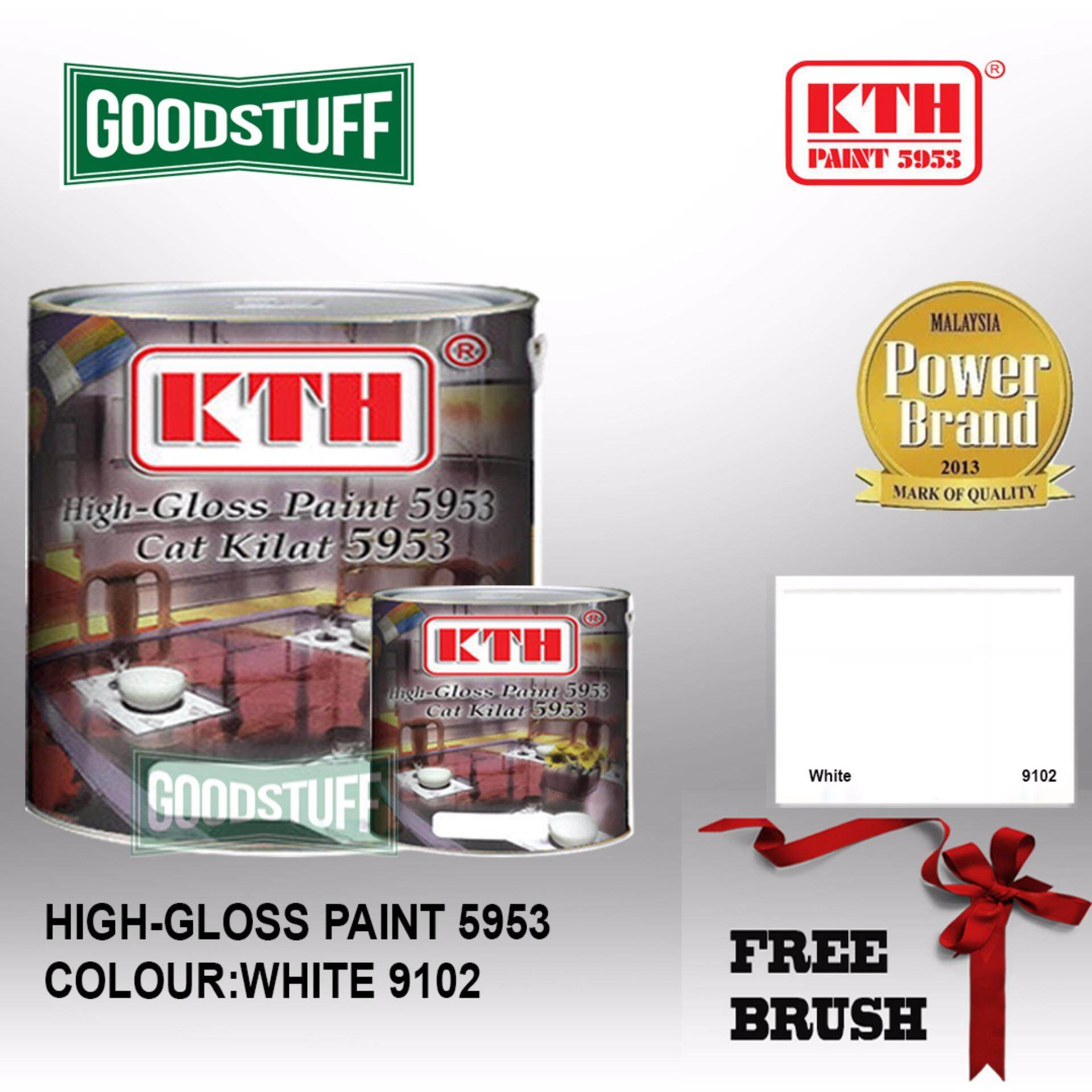 KTH HIGH GLOSS PAINT 1L WHITE-9102