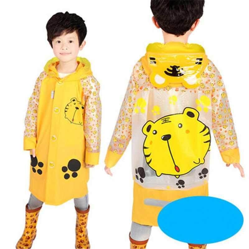 Waterproof Kids Boys Girls Cute Raincoat Kindergarten Children Cartoon Outdoor Tasteless Rain Coat Without Rainshoes A002268-2274 By Xinyuan Store.