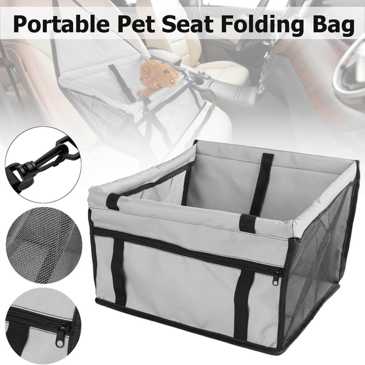 Portable Pet Car Seat Folding Travel Booster Bag Safely Carrier Belt Dog Puppy (light Grey) By Freebang.