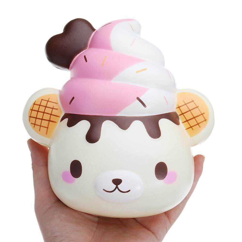 Yummiibear Huge Bakery Bun Squishy Jumbo Creamiicandy Puni Maru 16cm Licensed Slow Rising Giant Toy By Freebang.