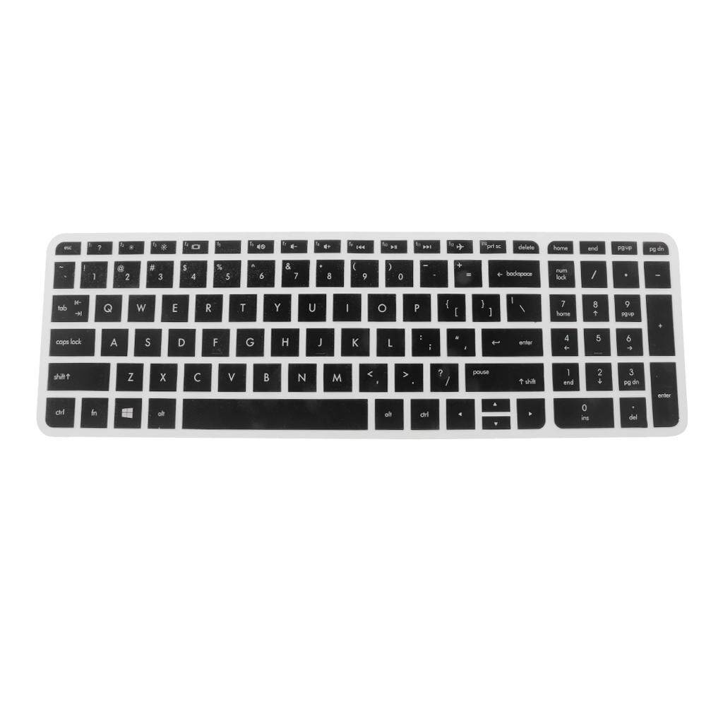 MagiDeal Rubber Keyboard SKin Cover Guard Film Protector for HP Pavilion 15inch Clear&Black Malaysia