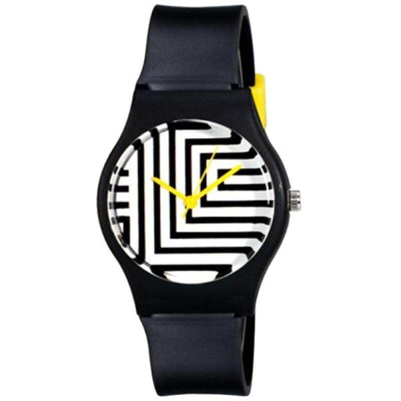 Willis for Mini girl Fashionable casual watch maze Pattern Analog Wrist Watch black Malaysia