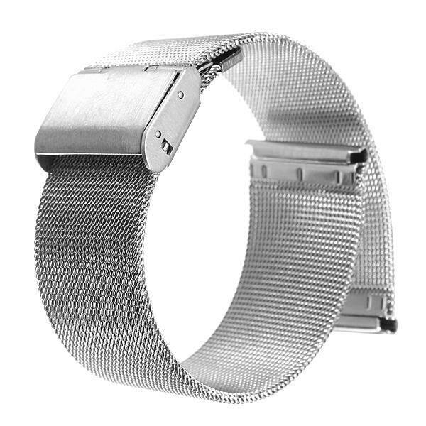 20mm Silver Stainless Steel Watch Mesh Net Bracelets Straps Band Malaysia