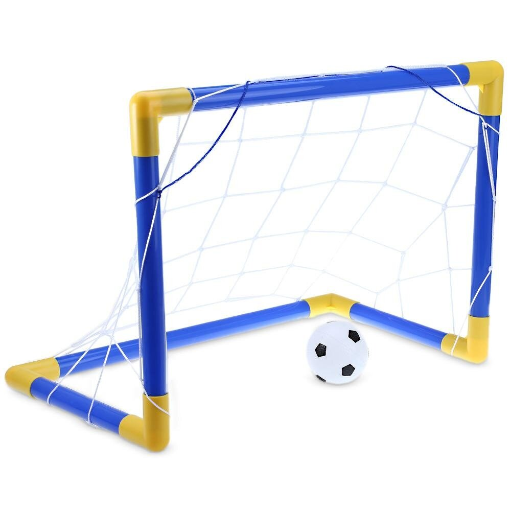 Mini Football Soccer Goal Post Net Set With Pump Kids Sport Toy By Sunnyday.