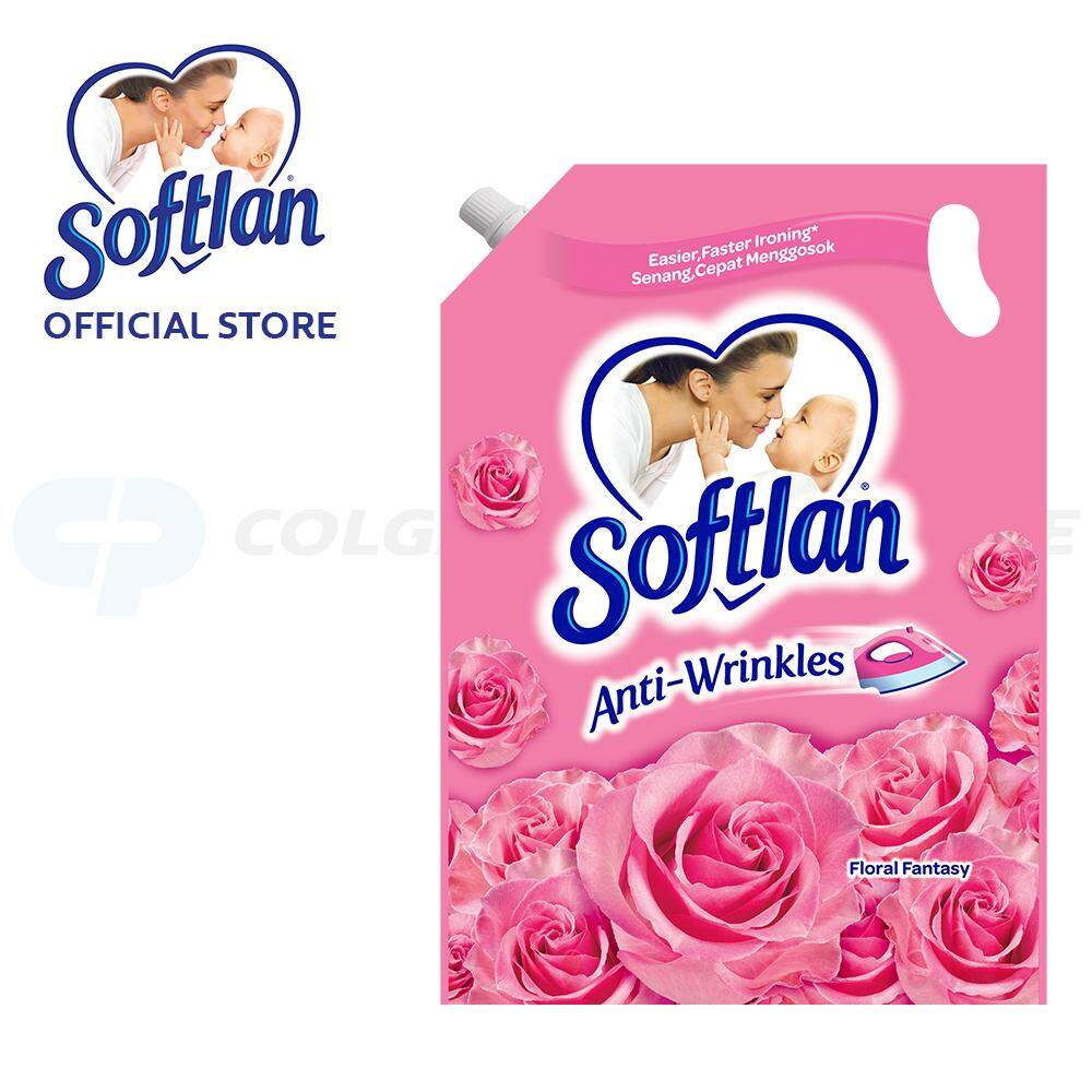 Softlan Anti Wrinkles Floral Fantasy (pink) Fabric Softener 1.6l Refill By Colgate Palmolive.