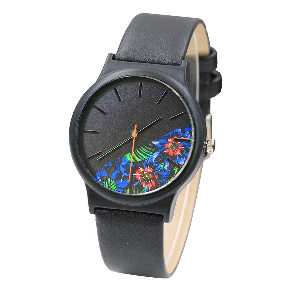 Fashion Women Stainless Steel Leather Analog Quartz Sport Wrist Watch Hot Sale Malaysia