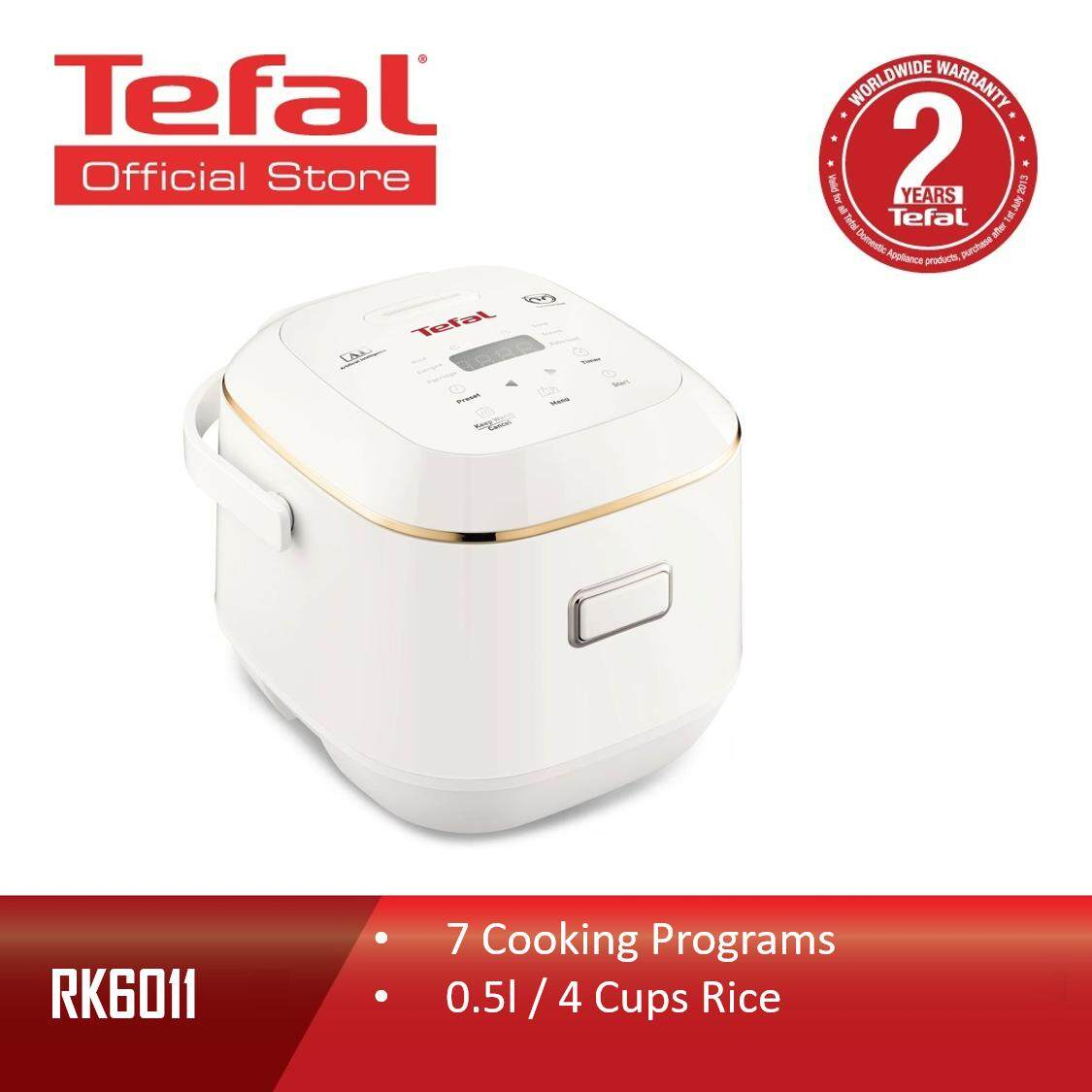 Tefal Fuzzy Logic 6 Layers Mini Spherical Pot 7 Cooking Programs Rice Cooker 0.5L RK6011