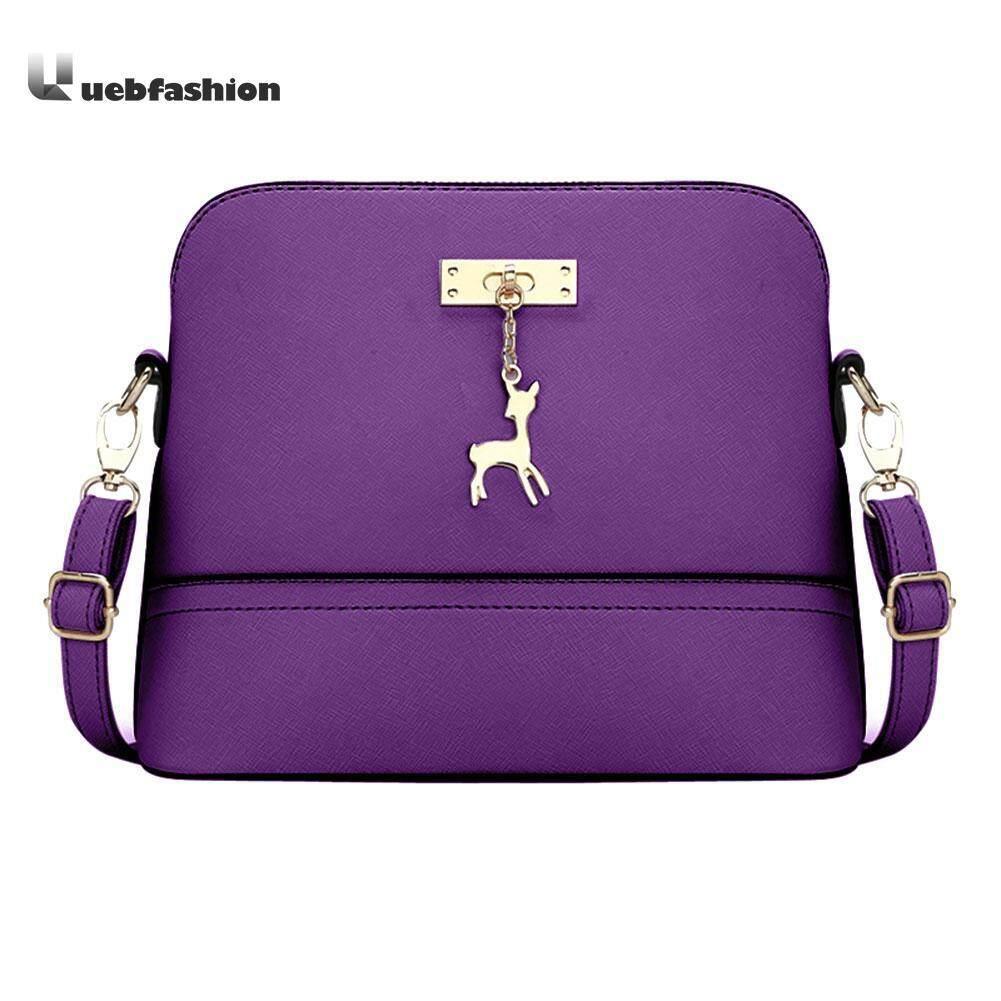 Uebfashion Women Vintage Fashion PU Leather Messenger Bag Shoulder  Crossbody Bag 268518f89c1f8