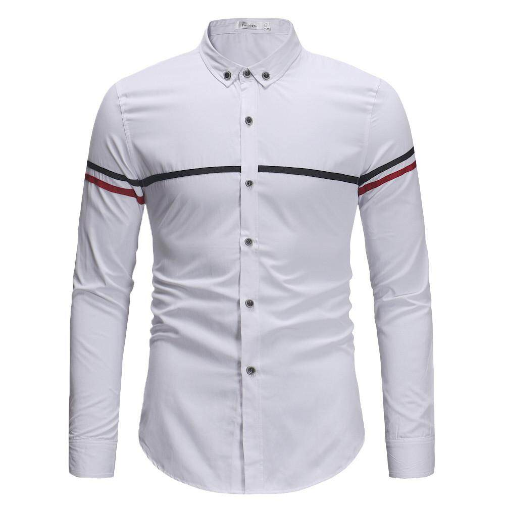 3187f4d1239e9 Mobilone Men s Autumn Winter Casual Long Sleeve Solid Turn-down Collar  Shirt Top Blouse