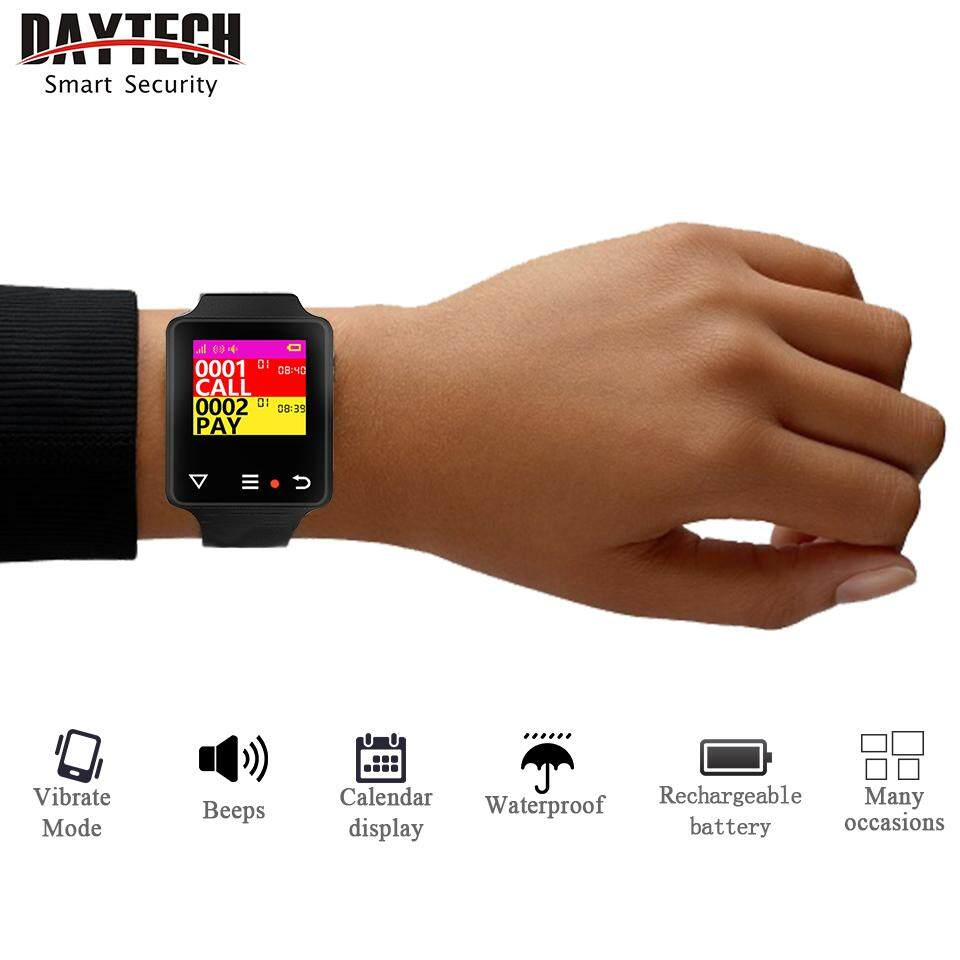 Daytech Buy At Best Price In Malaysia Two Door Buzzer With Display Calling System Waterproof Smart Wrist Watch Waiter Service Cafe Hospital Cargiver Receiver