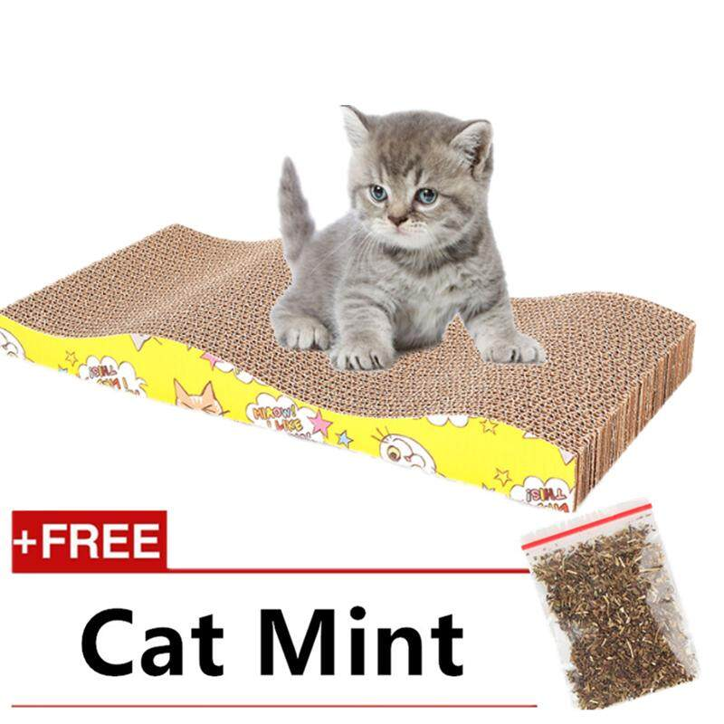High Quality S Shape Cat Kitten Claw Scratching Board Pad (free Cat Mint)(wave Shape) By P A F Pet Store.
