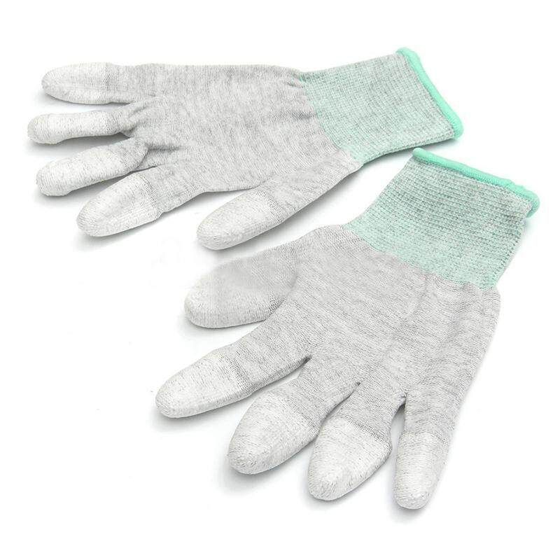 Anti Static Anti Skid ESD Electronic Labor Working Glove PC Computer Repair Size: M