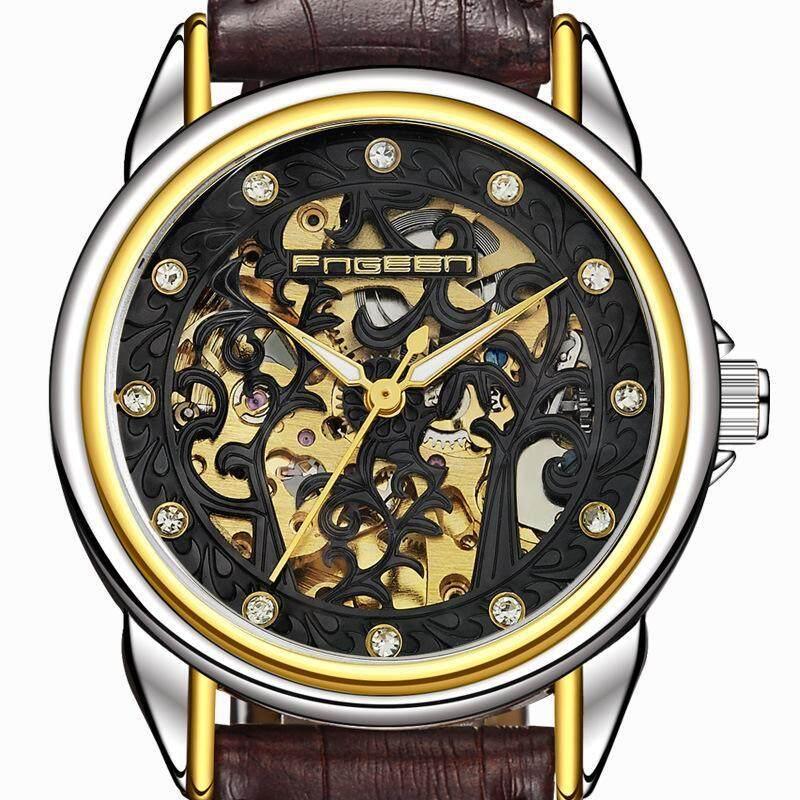 Finnish Brand New High-end Fashionable Steel Belt Automatic Hollowing Machine Man Watch Fashion Watch Malaysia