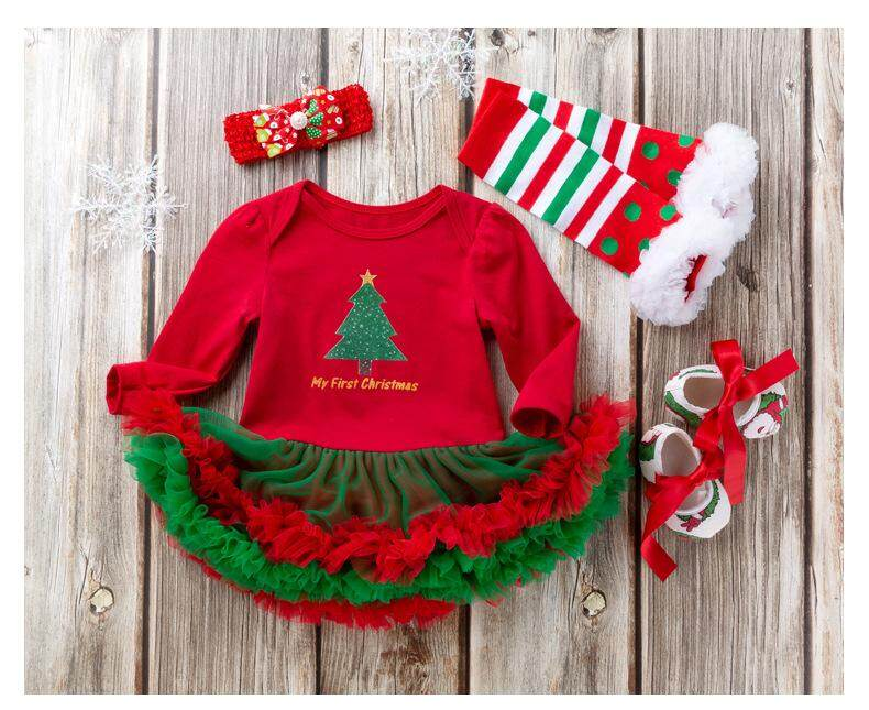 Newborn Christmas Pictures.Niceeshop Christmas Baby Costumes Cloth Infant Toddler Girls First Christmas Outfits Newborn Christmas Romper Clothing Set Birthday Gift