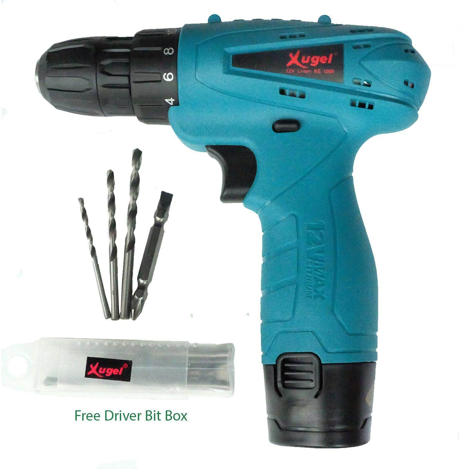 Home Drills Drivers Buy At Best Price In New Bor Listrik 10mm Nrt Pro Xugel Ke1009 12v Lithium Battery Cordless Drill With Free Driver Bits