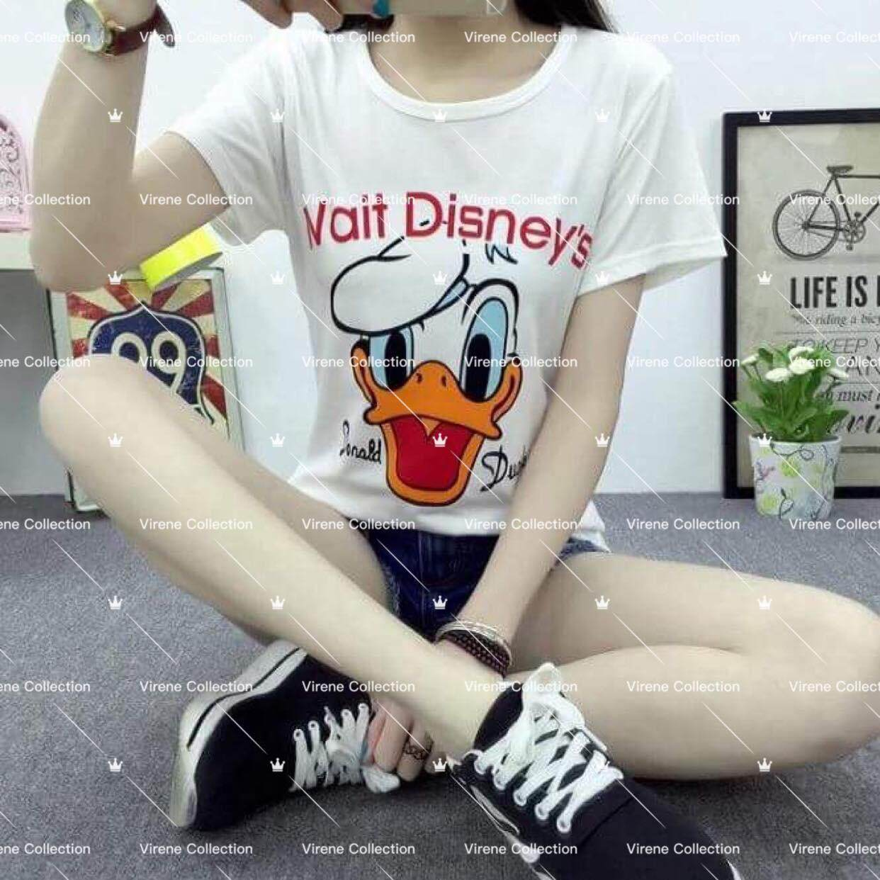 Virene Wholesale Ready Stock Korean Fashion Donald Duck Printing T-Shirt / Blouse ( M-2xl ) 211220c By Virene Collection.