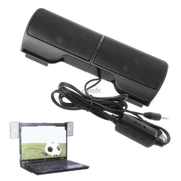 1 Pair Mini Portable Clip-On Usb Stereo Speakers Line Controller Soundbar For Laptop Notebook Mp3 Pc Computer With Clip Malaysia