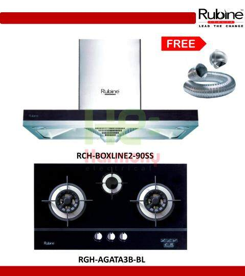 Rubine 1100 M³ Hr Cooker Hood Rch Boxline2 90ss With Sensor Touch Control