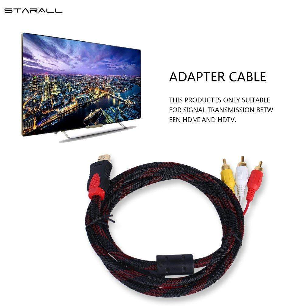 Black 5ft 1.5m Hdmi To 3-rca Video Audio Av Component Converter Adapter Cable For Hdtv/high Definition Display Elegant And Sturdy Package Back To Search Resultshome