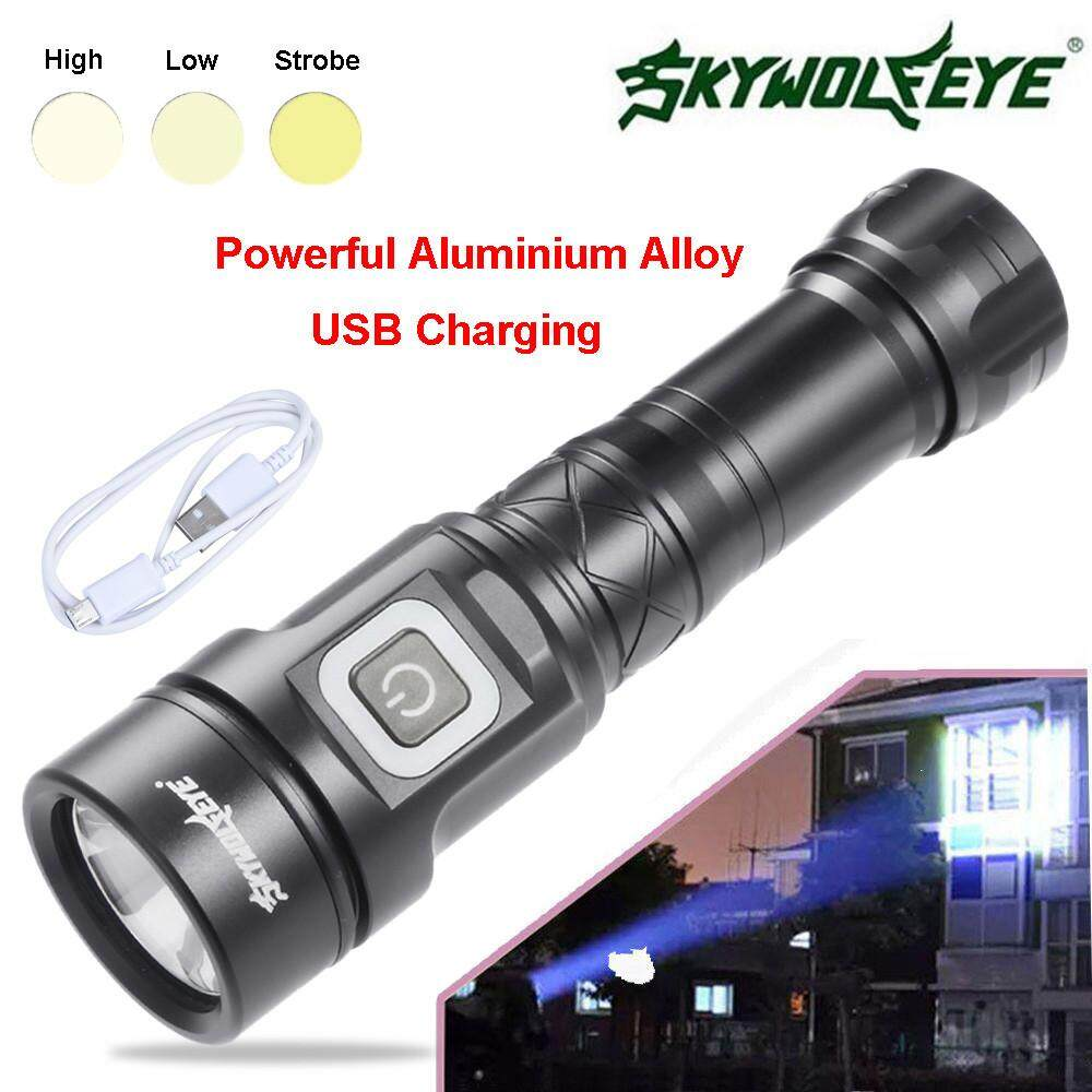 Portable L2 5 Modes Outdoor USB LED Flashlight Torch Super Bright For 26650