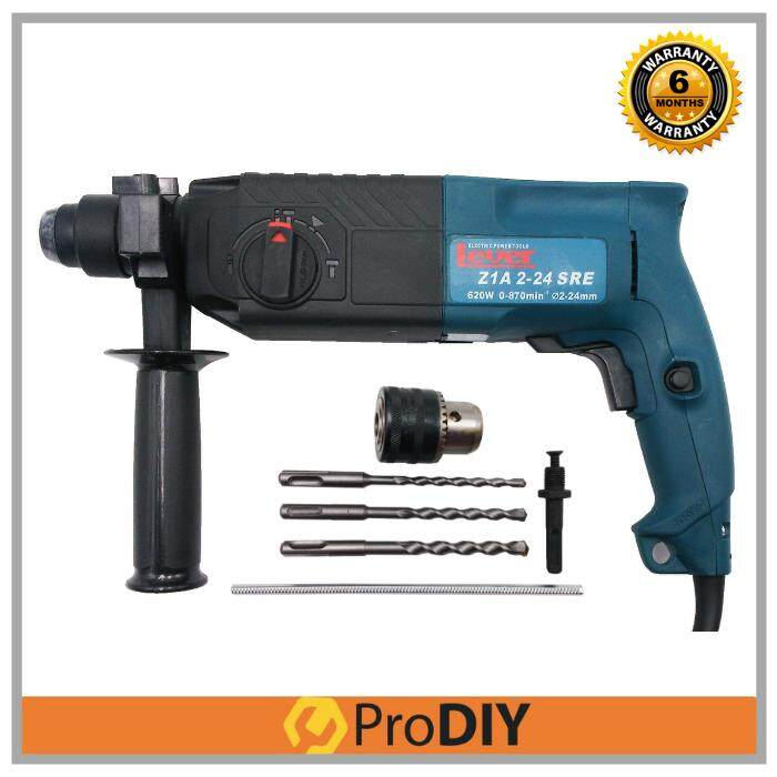 LEVER ZIA 2-24SRE 620W 24mm Rotary Hammer Drill