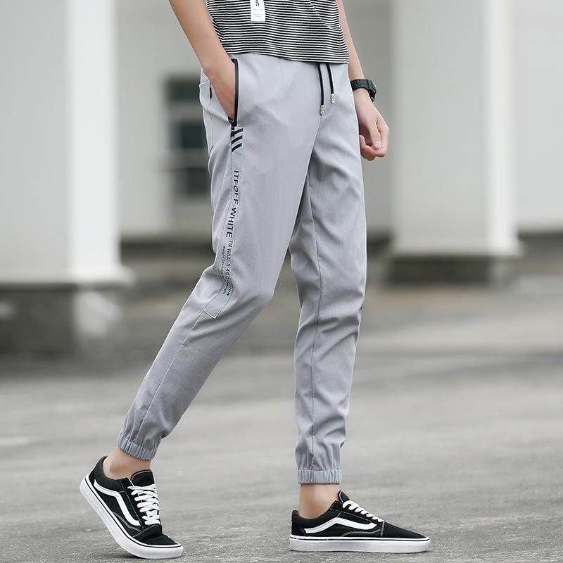e4a553c2f1a57d 2018 winter and autumn Mens Joggers Tracksuit Trousers Gym Sports Jogging  slim long sweat black PantsK08