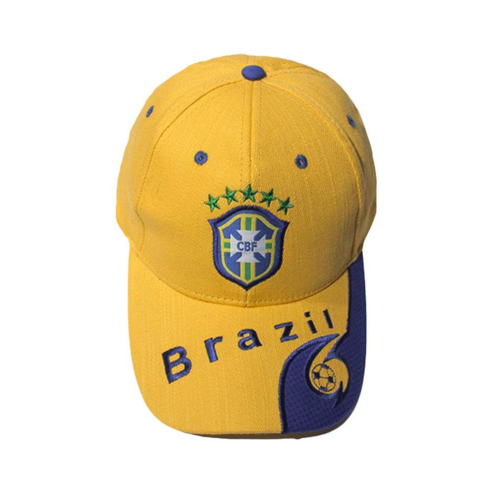 Sunyoo-2018 Russia World Cup Football Fans Hats Headband With Colorful National Flag Headwear Baseball Hat-Brazil Yellow By Sunyoo.