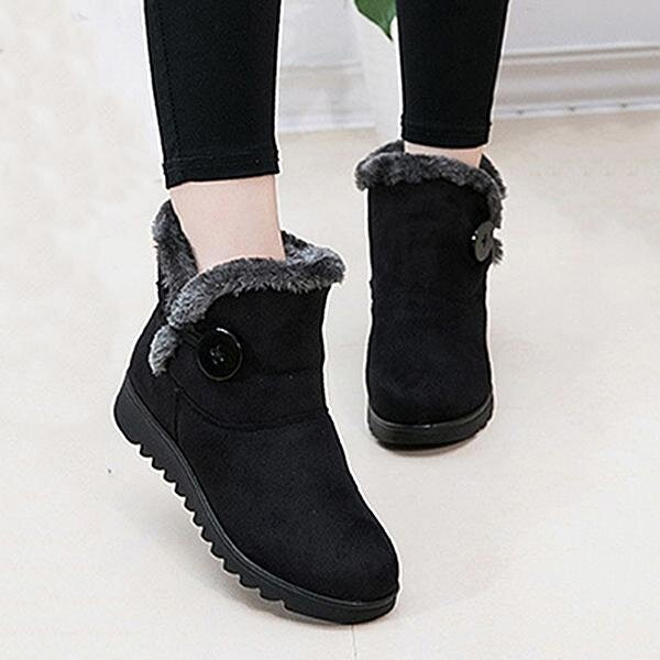 0410f88239b62 Fashion Buckle Comfortable Keep Warm Soft Winter Ankle Snow Boots For Women