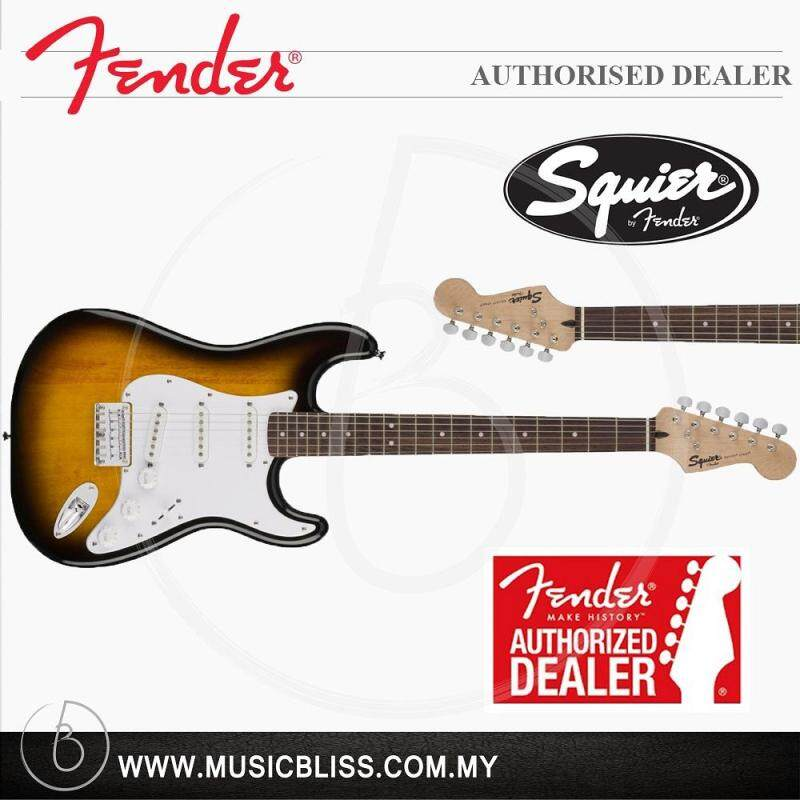 Fender Squier Bullet Stratocaster Hardtail 6-String Electric Guitar, Rosewood Fingerboard (Brown Sunburst) Malaysia